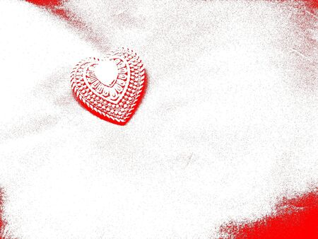Abstract Red and White Decorative Heart