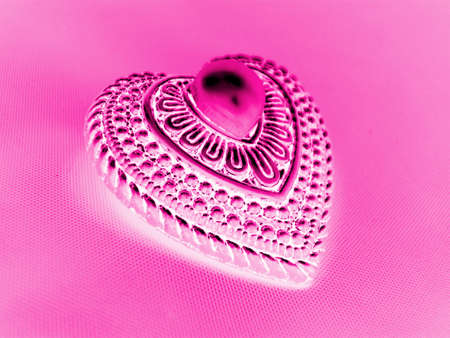 Abtract Pink Heart With Pearl Фото со стока
