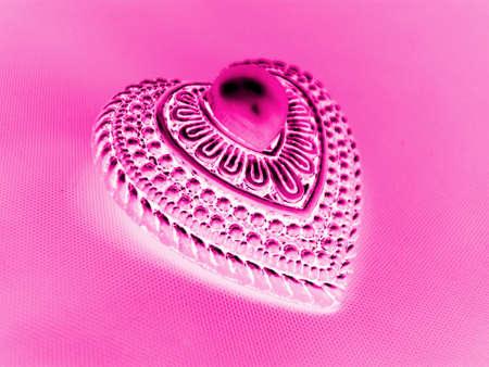 Abtract Pink Heart With Pearl Zdjęcie Seryjne
