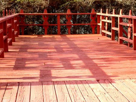Red Unique Deck Stock Photo