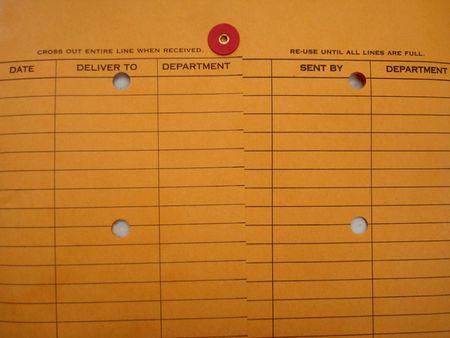 Documentation Area Of Inter-office Envelope