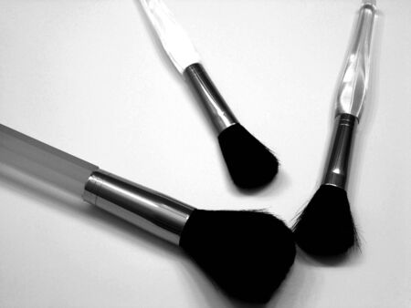 B&W Cosmetic Brushes Stock Photo