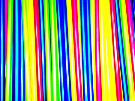 Colored Straws Stock Photo
