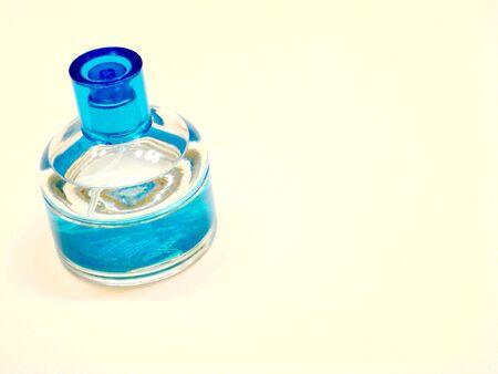 Blue And Clear Bottle Banco de Imagens
