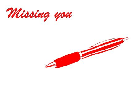 Missing You In Red Reklamní fotografie