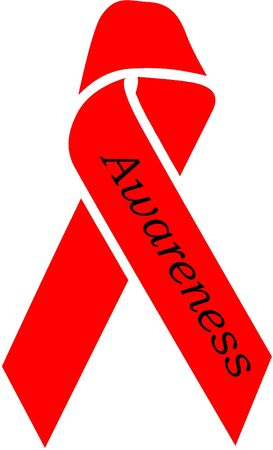 hartziekte: Red Ribbon Awareness - aids, DARE, DUI, Pro-Life, Substance Abuse, hartaandoeningen Stockfoto