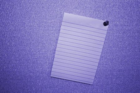 pin board: Blue Blank Post-it Note On Fabric Board With Push Pin
