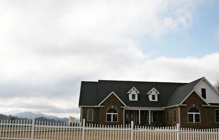 Modern Brick home Stock Photo - 2605965