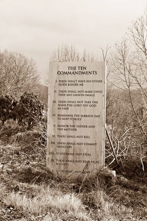 Stone With Ten Commandments