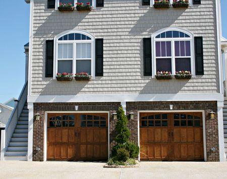Beach Home With Double Garage Doors
