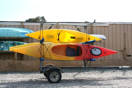 loaded: Kayaks Loaded For Transport