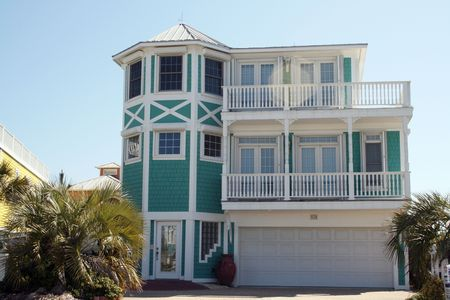 Oceanfront Home Stock Photo