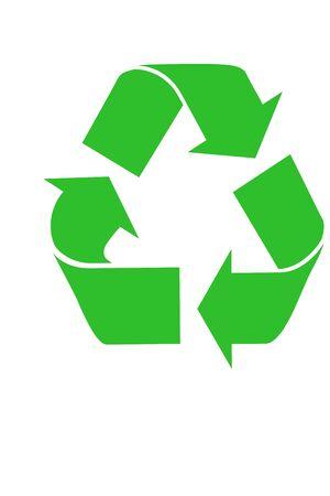 reciclable: Green s�mbolo de reciclaje  Foto de archivo