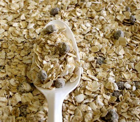 oatmeal: Spoonful Of Oatmeal Stock Photo