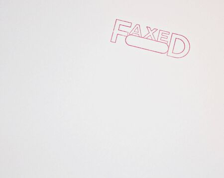 Stamped Faxed
