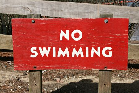 Red No Swimming Sign Stock Photo - 2725851