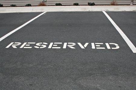 reserved: Reserved Parking Space Stock Photo