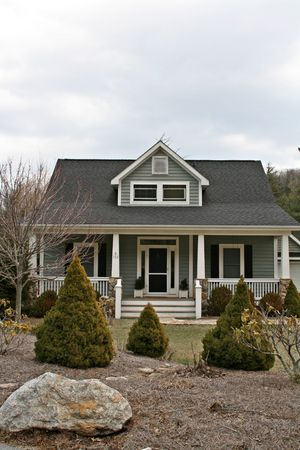 Front Of Home With Landscaped Yard