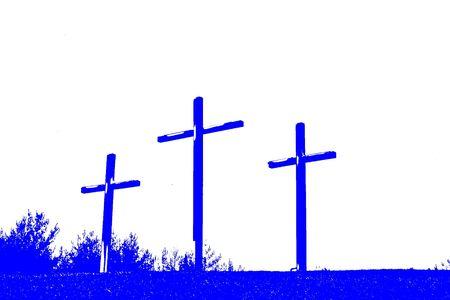 Three Crosses Abstract