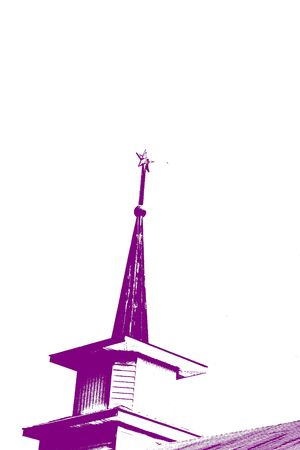 topped: Steeple With Star - Abstract