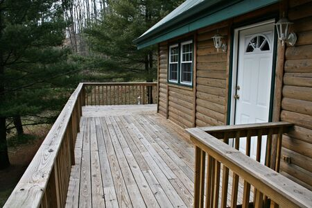 Log Home Decking photo