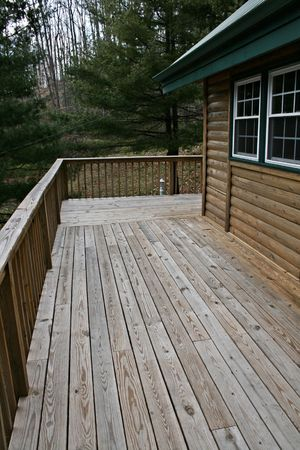 log deck: Log Cabin Deck - Vertical