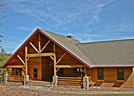 expensive: Expensive Log Home