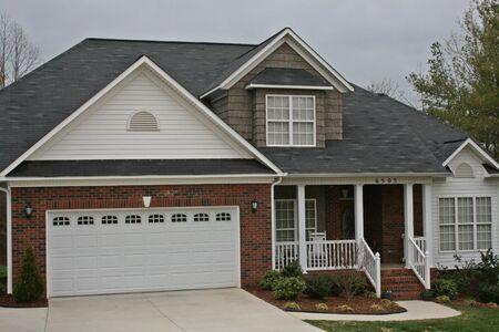 two car garage: Brick Home