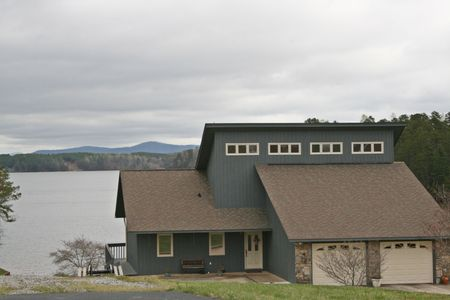 lake Front Home With Two Garages