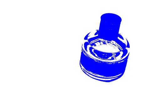 Blue Abstract Bottle Banco de Imagens