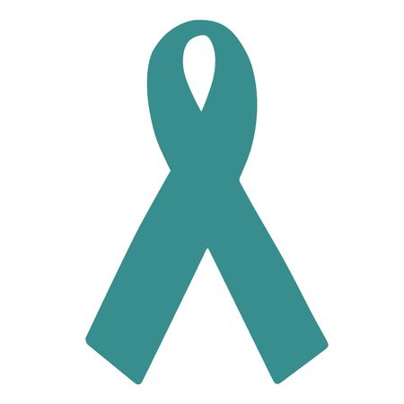 Ruban bleu gris de sensibilisation - Native American réparation, du cancer gynécologique, myasthénie grave, la violence sexuelle, le syndrome de la Tourette  Banque d'images - 2873716