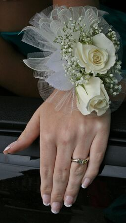 human wrist: Prom Wrist Corsage