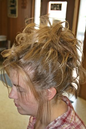causasian: Hairstyle - Side