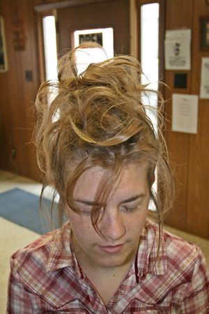 Hairstyle - Front Фото со стока