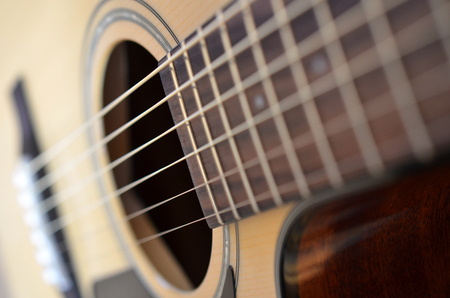 fender: An image of the strings on a Fender guitar.