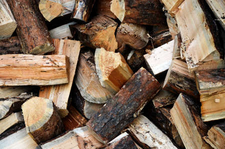 loosely: An image of loosely stacked firewood.