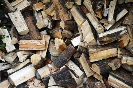 piled: An image of piled up firewood.