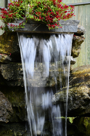 water feature: An image of a indoor water pond feature.