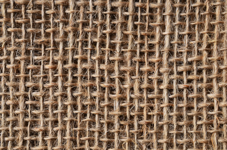 man made: An abstract image of man made burlap fabric. Stock Photo