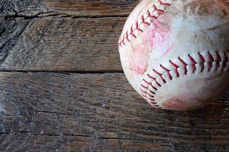 古い平面図イメージは使用され、野球をステンド グラスします。 写真素材