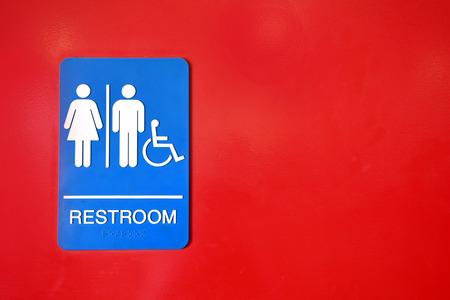 braille: Colorful Public Washroom Sign Stock Photo