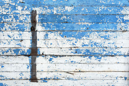 white wood floor: Old Blue and White Wood Abstract Stock Photo