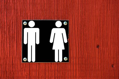 toilet: Public Washroom Sign Stock Photo