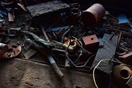Old Broken Tools Stock Photo