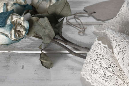 Old Faded Roses Imagens