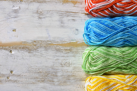 Crochet Yarn Background Archivio Fotografico - 95630025
