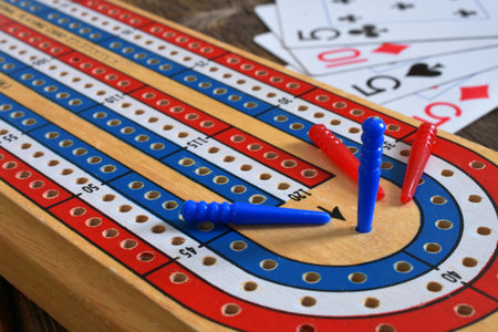 Old Wooden Cribbage Board