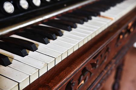 Vintage Piano Keys Abstract