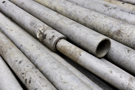Industrial Steel Pipe Background Stock Photo
