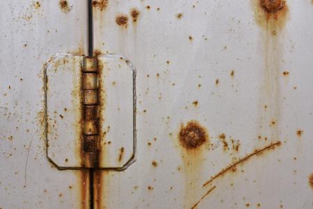 Old Metal Door Hinge Close Up